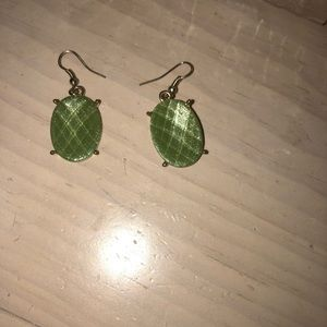Women's green earrings
